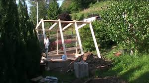 building a green house wood frame youtube