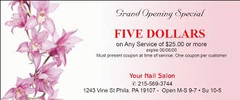 flower coupons nailsalonprinting specialize in printing for nail salon