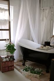 Small Bathroom Shower Curtain Ideas Clawfoot Tub Bricks Plants Shower Curtain Love It All Loft