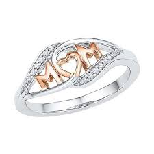 rings for mothers gift gold color heart shaped rings