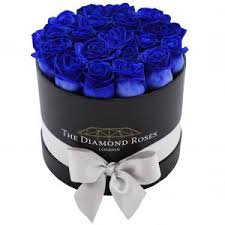 blue roses delivery blue roses luxury flower delivery boxes with ribbon