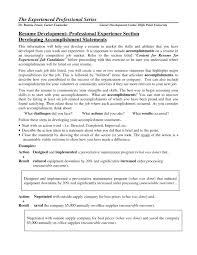 brief resume example resume examples with accomplishments frizzigame cover letter achievement resume examples examples achievement
