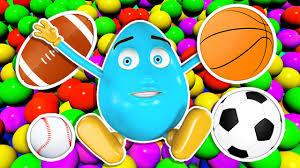 sports easter eggs easter eggs hunt 3d toys challenge learn balls