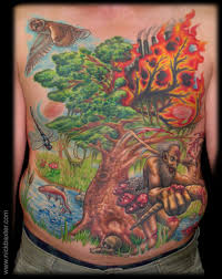 for unique nick baxter tattoos of the forest