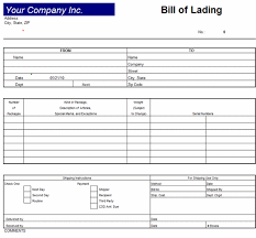 Bill Of Lading Template Excel Bill Of Lading Invoice Template Excel 2007 Invoice Template