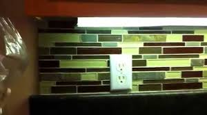 Home Depot Kitchen Backsplash Tiles How Totile Backsplash In Glass Subway Tile From Home Depot By