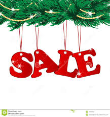 christmas sale tags and christmas tree stock vector image 46759005