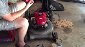 craftsman 550 series push mower oil change youtube