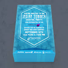 thomas creative solutions exponential indian summer party invitation