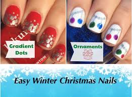 easy winter christmas nails the crafty ninja