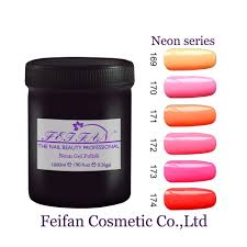 2017 fei fan oem gel nail polish own brand neon color soak off