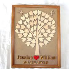 personalized wedding guest book best wooden wedding tree guest book products on wanelo