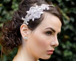 wedding headbands rhinestone appliqué wedding headband zara jules bridal jewellery