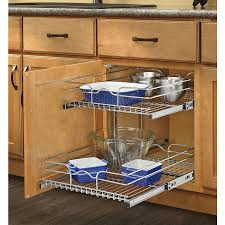 Kitchen Pull Out Cabinet by Shop Rev A Shelf 17 75 In W X 19 In H Metal 2 Tier Pull Out
