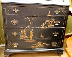 vintage sails chinoiserie drop down secretary desk for sale