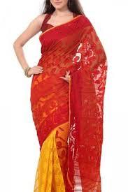 dhakai jamdani saree buy online a model shows a bangladeshi traditional jamdani saree in dhaka