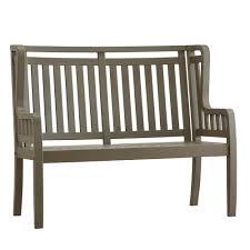 homesullivan verdon gorge 45 in gray wood outdoor high back bench