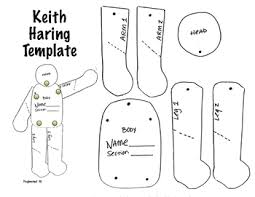 Keith Haring Figure Templates keith haring pose template and directions by fuglefun tpt