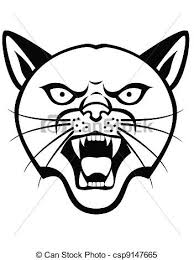 panther head tattoo clipart vector search illustration drawings