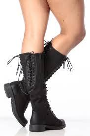 s boots calf length black denim lace up calf length combat boots cicihot boots
