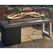 Patio Fireplace Table Wave Gas Fire Pit Table Woodlanddirect Com Outdoor Fireplaces