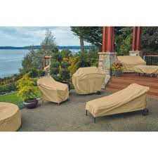 Zippered Patio Table Covers by Classic Accessories Terrazzo Round Patio Table U0026 Chair Set