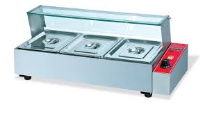 commerical stainless steel electric bain marie 3 pans countertop