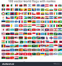 World National Flags With Names Flags World Countries Stock Vector 466064627 Shutterstock