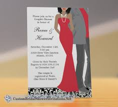 Couples Wedding Shower Invitations African American Bridal Shower Invitations U2013 Custom Bridal Shower