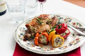 comment cuisiner un coquelet grilled rosemary garlic coquelet with stuffed baby peppers