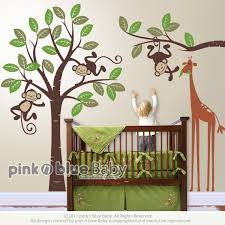 Nursery Monkey Wall Decals Wall Decal Design Large Animals Themed With Monkey Wall Decals