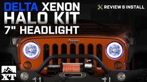 jeep headlights halo jeep wrangler delta xenon halo 7