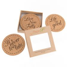 beverage coasters jazzup home drink coasters inspirational set 4 pack x large