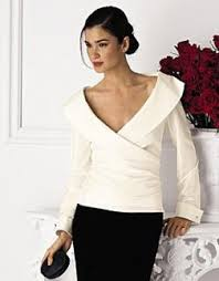 Black Blouse With White Collar Beautiful In Blouses Shawl Neckline And Silk