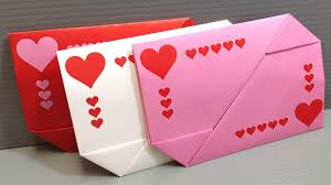 Valentine S Day At Home by Origami Valentine U0027s Day Gift Card Envelopes Print At Home Youtube