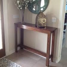 staging an entry table with organic rustic organic rustic