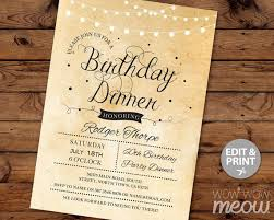 invitation template for birthday with dinner birthday dinner invitation birthday dinner invitation with some