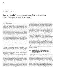 chapter 4 issues and communication coordination and