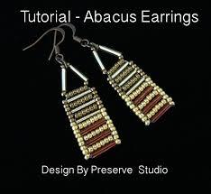 beginner earrings seed bead earring earring tutorial abacus earring tutorial