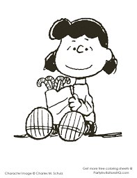charlie brown christmas coloring pages print glum