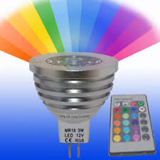 mr16 led remote control colour changing light bulb 3w 16 colours