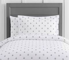 organic anchor quilt cover pottery barn kids au