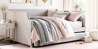 Upholstered Daybed With Trundle Annika Upholstered Daybed With Trundle Rh Baby U0026 Child