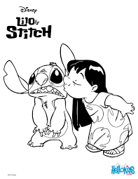 lilo and stitch eating an ice cream coloring pages hellokids com