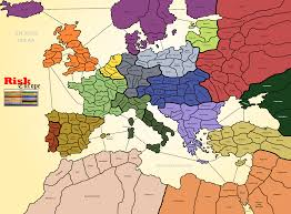 Map Of Modern Europe by Risk