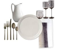 crate and barrel napkins curated tablescapes mara silber