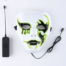creepy mask other supplies fluorescent yellow el wire glowing