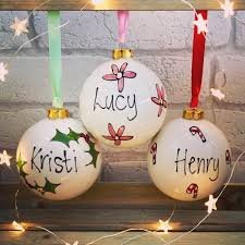 personalised tree ornament bauble