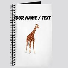 giraffe pattern notebook giraffe notebooks cafepress