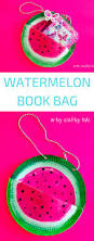 paper plate watermelon book bag kids book club crafty kids and